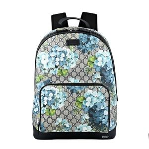 Gucci Large GG Supreme Canvas Blooms Backpack